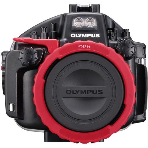 Olympus PT-EP14 Unterwassergehäuse - Frontansicht