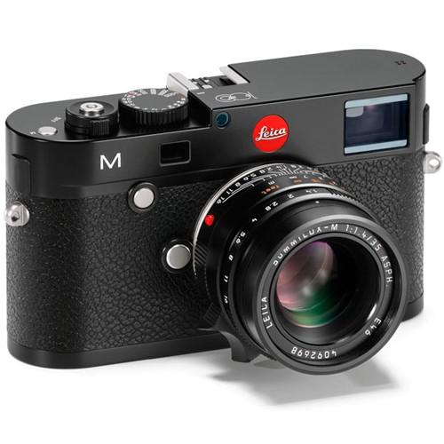 Leica M Gravur 100 Jahre schwarz (Aussteller) - Schrägansicht