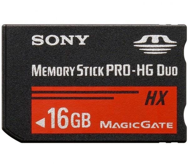 Sony 16GB Pro-HG Duo HX Speicherkarte - Frontansicht
