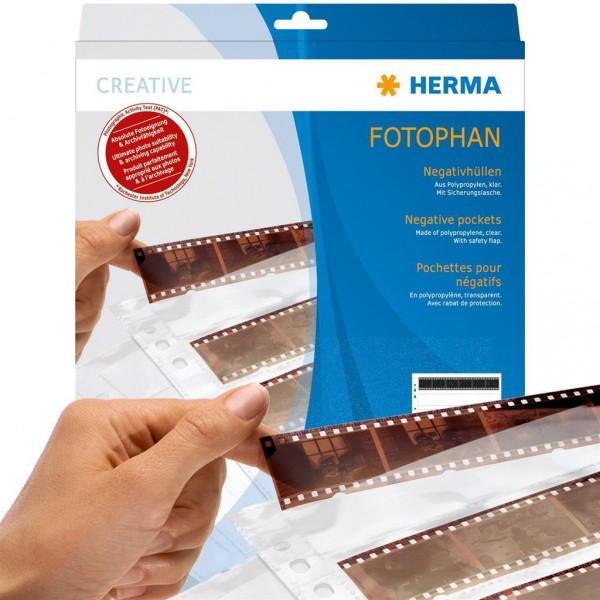 Herma 7768 Negativhüllen 10x4 Streifen, 100 Stück