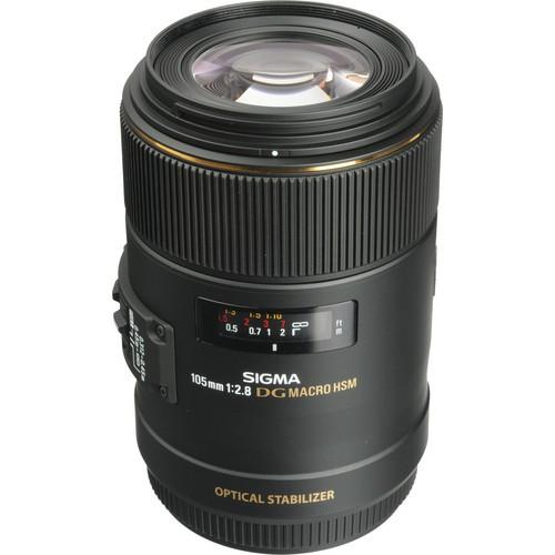 Sigma AF 105mm f/2.8 EX DG OS HSM Macro Objektiv für Nikon