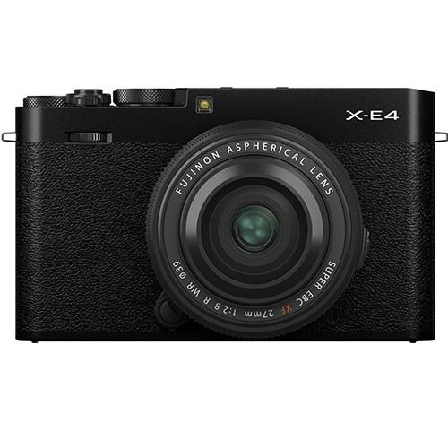 Fujifilm X-E4 Kit mit XF 27mm f/2.8 WR Objektiv schwarz
