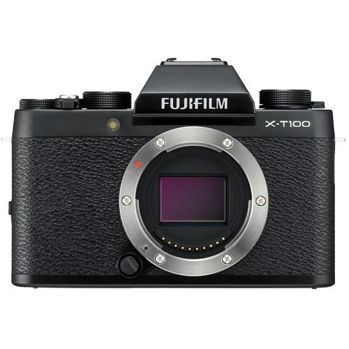 Fujifilm FinePix X-T100 Gehäuse schwarz - Frontansicht